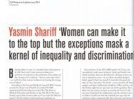 Yasmin Shariff, artículo en AJ