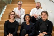 Karolina Keyzer. Jurado Premio Träprisets 2016. De izquierda a derecha:. Carmen Izquierdo, Tomas Alsmarker Rahel Belatchew Lerdell, Anders Svensson, Karolina Keyze.
